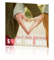 Hippe save-the-date-kaart
