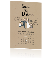 Save the date strip met kalender